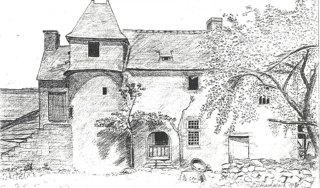 Le manoir en 1930 - Manoir dessin ...